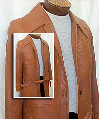 Leather Long Coat  repair rate